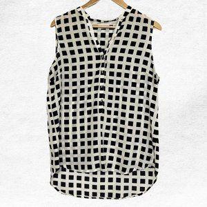 NY&C Large Black White Pattern Blouse